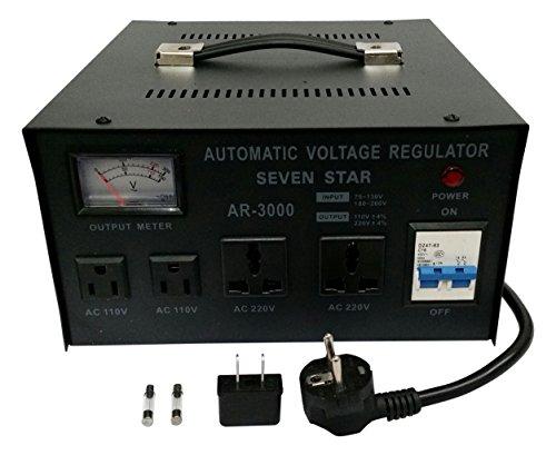 SEVENSTAR AR 3000 3000-Watt Heavy Duty Voltage Regulator/Stabilizer with Built-In Voltage Transformer