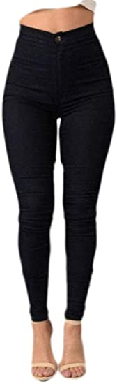 Memories Love Women Stretchy High Waist Fashion Skinny Denim Jeans Pants