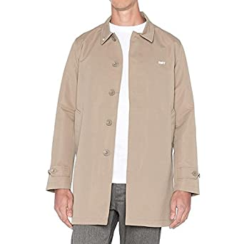 Chaqueta Gabardina Obey Sneaky Trench Coat Tan: Amazon.es ...