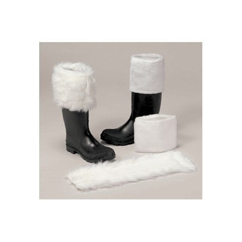 [Santa Claus Luxurious Long-Hair Boot Cuff (NOT boots) Adult Size Standard] (666 Halloween Costume)