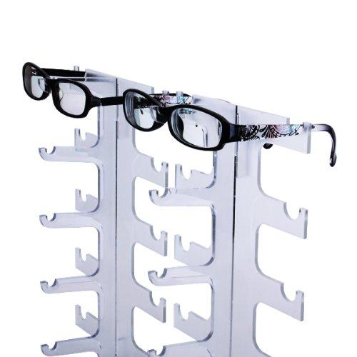 Sharplace Brillenst/änder Brillenpr/äsenter Brillendisplay Plexiglas f/ür 10 Brillen