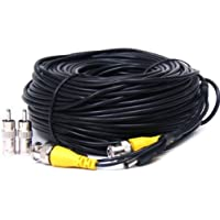 Videosecu 150 Feet Video Power Extension Cable Wire for CCTV Security Cameras with BNC to RCA Adaptor C13
