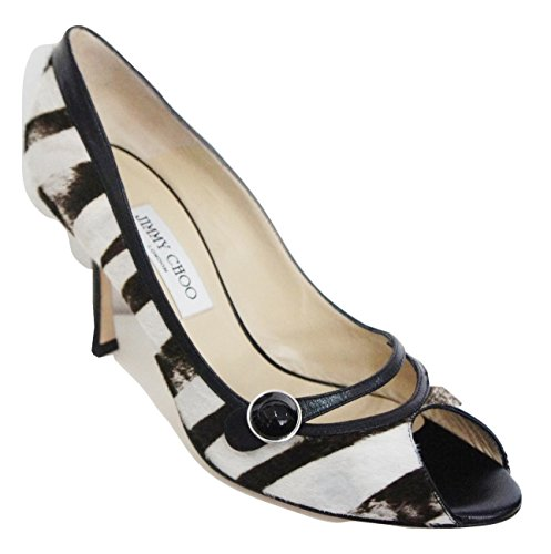 Jimmy Choo Heart Pony Hair & Leather Zebra Print Peep Toe Court discount 2014 new GyGsTIdU4D