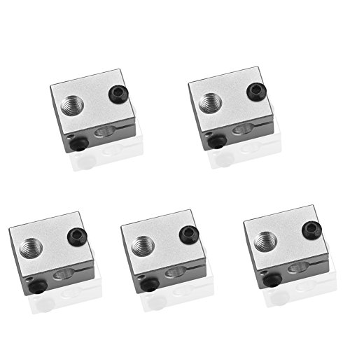 SIENOC 5x E3D V6 Aluminum Heater Block for 3D Printer Heating Block Printers Block