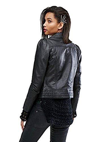 de para Lamb Grain diseño Skin mujer Chaqueta de primera y Cuero calidad cuero Full YXqnPEw