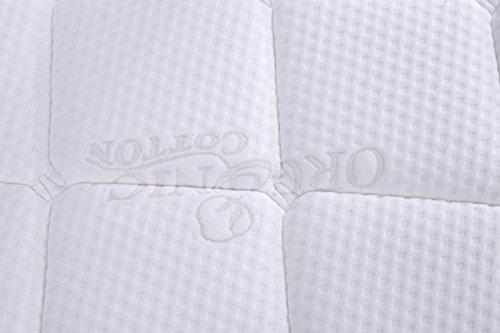 Oliver Smith – Organic Cotton – 12 Inch – Firm Mattress – Cool Memory Foam Pocket Spring Mattress – Green Foam Certified – Full