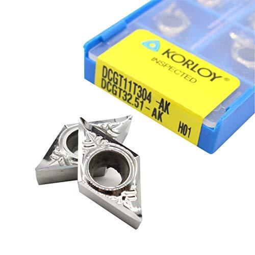 10Pcs KORLOY DCGT32.51-AK H01 DCGT11T304-AK H01 CNC Aluminum inserts