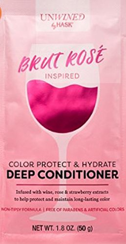 Unwined Hair Treatment! Infused With Wine! 1.8 Oz Packet! Brut Rose! Provence Rose! Pinot Grigio! Pinot Noir! Sauvignon Blanc! Caberernet Sauvignon! (Brut Rose Color Protect And Hydrate)