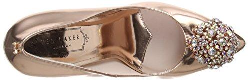 Ted Oro para Baker Rose Mujer Peetch Tacón de Gold Zapatos rUrqS0px