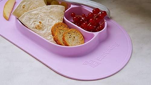 color rosa EcoViking EV0102 Bandeja de silicona con placemento