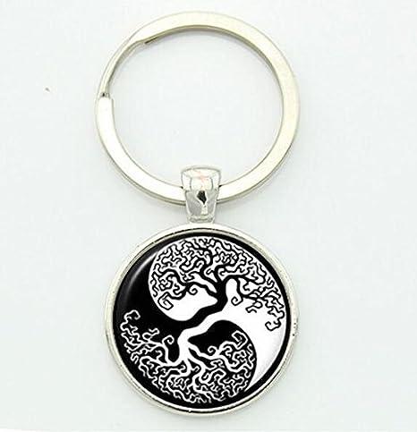 Llavero Yin Yang, llavero Yin Yang, llavero de yoga, joyería ...