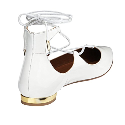 cuña Blanco Jushee blanco con Sandalias mujer wqEA1gx