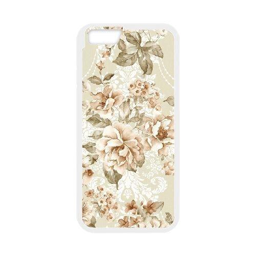 FDXGW531 iPhone 6 4.7 Inch Cell Phone Case-white_Retro Flower (8)