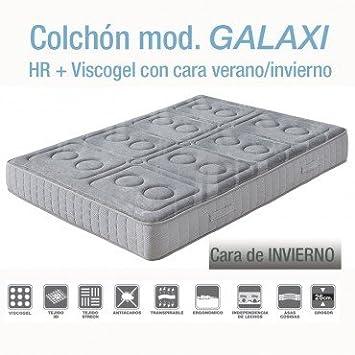 Homely Colchón GALAXI de HR con Viscoelastica y Viscogel (150_x_190_cm): Amazon.es: Hogar