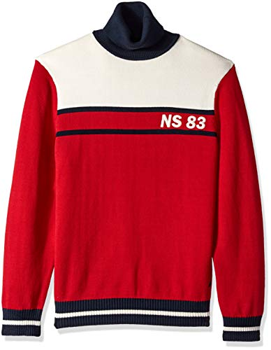 Nautica Men's Long Sleeve Classic Turtle Neck Sweater, red, Large ()