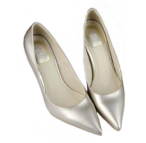 Stiletto Pumps Pointed Dress HooH Gold Toe Women's q5wwXt