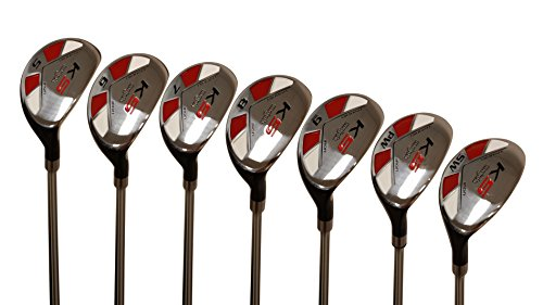 Petite Senior (55+) Womens Majek Golf Clubs All Ladies Hybrid Complete Lightweight Graphite Set Includes: #5, 6, 7, 8, 9, PW + SW Lady Flex Right Handed New Rescue Utility