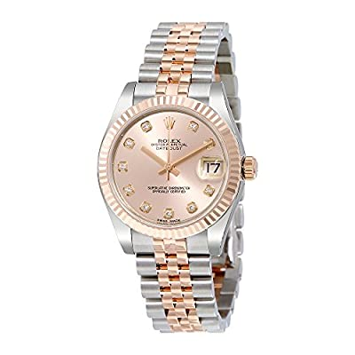 Rolex Datejust Lady 31 Pink Dial Stainless Steel and 18K Everose Gold Rolex Jubilee Automatic Watch 178271PDJ from Rolex