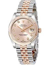 Datejust Lady 31 Pink Dial Stainless Steel and 18K Everose Gold Rolex Jubilee Automatic Watch 178271PDJ
