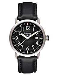 Traser Classic Basic Watch with Black Waffle Dial T4102.740.A2.01
