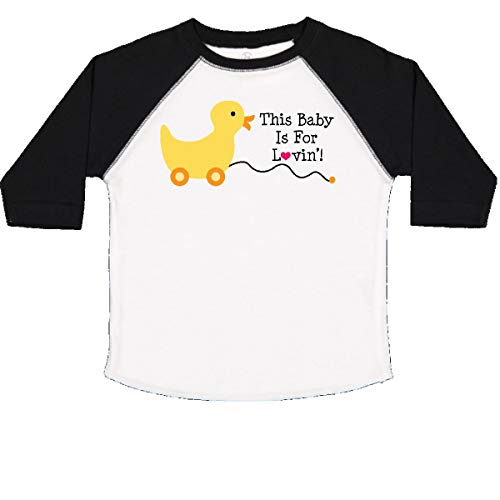 inktastic - Baby Quote Yellow Duck Toddler T-Shirt 4T White and Black ecc9
