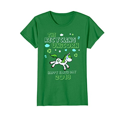 Earth Day Shirts Kids Girls Unicorn Recycle Green Gift Idea