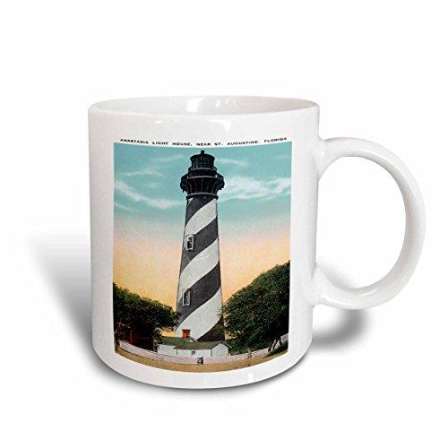 3dRose mug_169573_2 Anastasia Light House St Augustine Florida Ceramic Mug, 15-Ounce, - Augustine Outlets St Florida