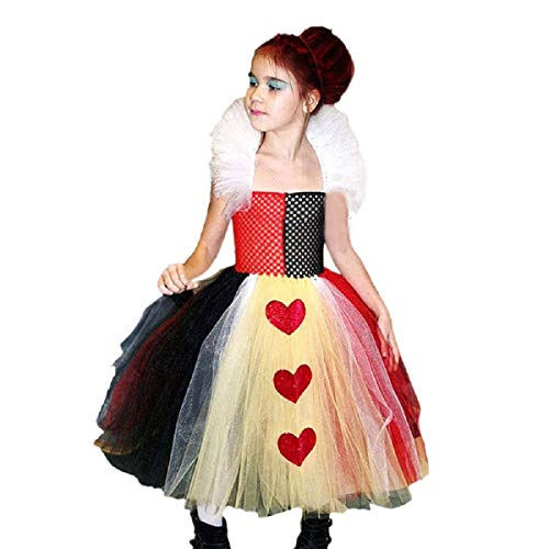 OTINICEToddler Girls Halloween Cosplay Dress Sleeveless Heart Print Tutu Party Dress