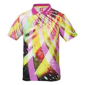 ニッタク(Nittaku) 卓球アパレル SPINADO SHIRT(スピネードシャツ) ゲームシャツ(男女兼用) NW2176 ピンク XO [簡易パッケージ品] B0786ZK7CG
