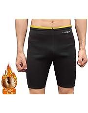 NOVECASA Pantalones Cortos Sauna Hombre Neopreno Sauna Pants Deportivo para Sudoración Culturismo Quema Grasa Adelgazante