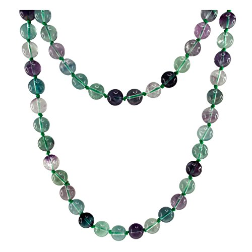 Pearlz Ocean Fluorite Endless Necklace 36-inches Long
