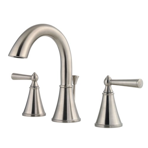 ton 2-Handle 8 Inch Widespread Bathroom Faucet in Brushed Nickel ()