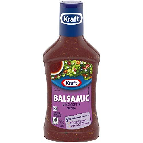 Kraft Balsamic Vinaigrette Dressing & Marinade (16 oz Bottles, Pack of 6)