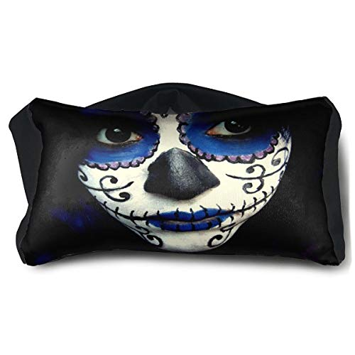 Eye Pillow Guy Sugar Skull Makeup Designer Eye Bag Patch Mens Portable Blindfold Sleeping Protection -