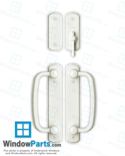 Andersen Albany 4-panel Gliding Door Hardware Set in White (Patio Narroline Doors Andersen)