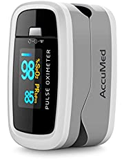 AccuMed CMS-50D1 Pulse Oximeter Finger Pulse Blood Oxygen SpO2 Monitor w/Carrying case, Landyard & Battery FDA CE Approved