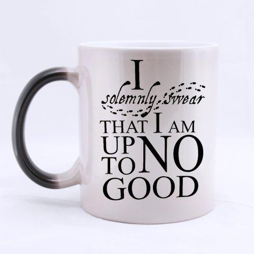 InterestPrint Custom I Solemnly Swear That I Am Up To No Good Harry Potter Funny Words Ceramic Magic Color Changing Morning Coffee Tea Drinking Mug -Heat Sensitive (11 oz)