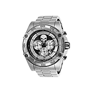 Invicta Men's Marvel Quartz Watch with Stainless-Steel Strap, Silver/Gold, 26