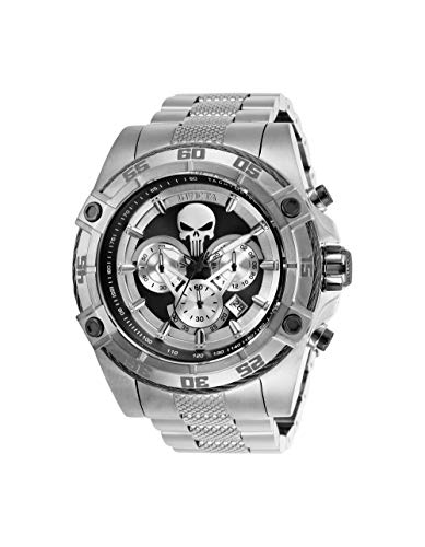 Invicta Men's 'Marvel' Quartz Stainless Steel Watch, Color:Silver-Toned (Model: 26863)