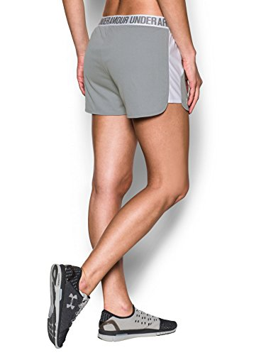 Under Armour Women's Play Up Shorts 2.0, True Gray Heather (025)/White, XX-Small by Under Armour (Image #2)