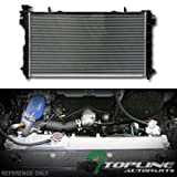 Topline Autopart Aluminum Core Replacement Radiator Cooler For AT Automatic MT Manual Transmission For 01-04 Chrysler Town & Country / Voyager / Dodge Caravan 3.3L V6 Engine DPI 2311