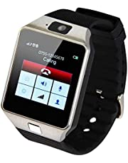 Smart Watch Rubber Band For Android & iOS,Black - DZ09 , 2724552550797