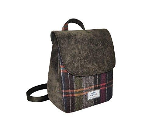 Terra Squared–Ursula Backbag–lana tweed zaino–Pewter–30x 26x 10cms