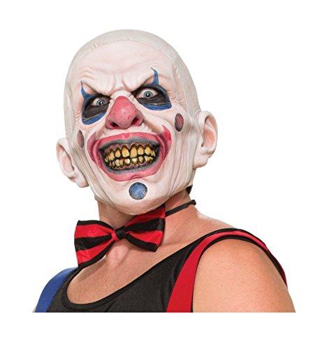 Forum Novelties Men's Twisted Clown Latex Mask, Multi, One -