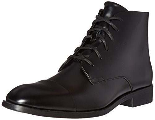 Calvin Klein Men's Darsey Box Boot, Black, 9.5 M US