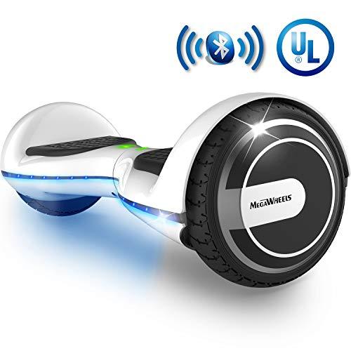 (MEGAWHEELS Smart Hoverboard - UL Certified Safety Battery Colorful Led Lights Self-Balancing Hover)