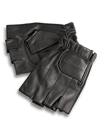 M7059XL Milwaukee Motorcycle Clothing Company MMCC Fingerless Gloves with Gel Palm Black, X-Large