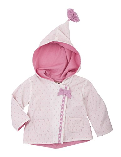 - Hatley Baby Girls' Button Up Hoodie, Swiss Dots 6-9M