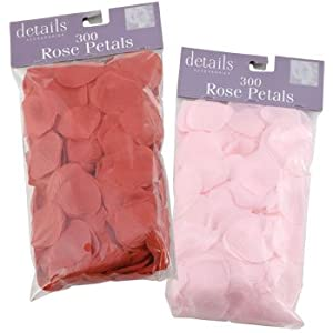 Fabric Rose Petals Pink and Red, 4 Pack 300 Petals Each Pack 49