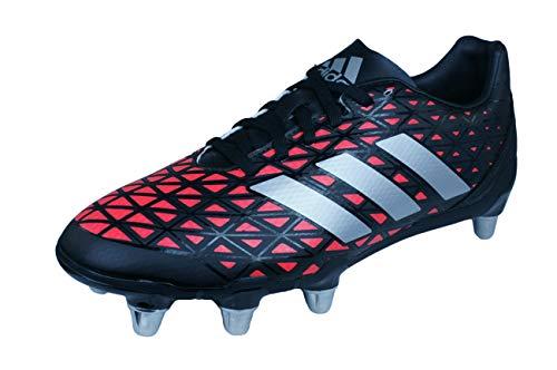 Adidas Kakari SG Hombre Rugby Botas-Black-7
